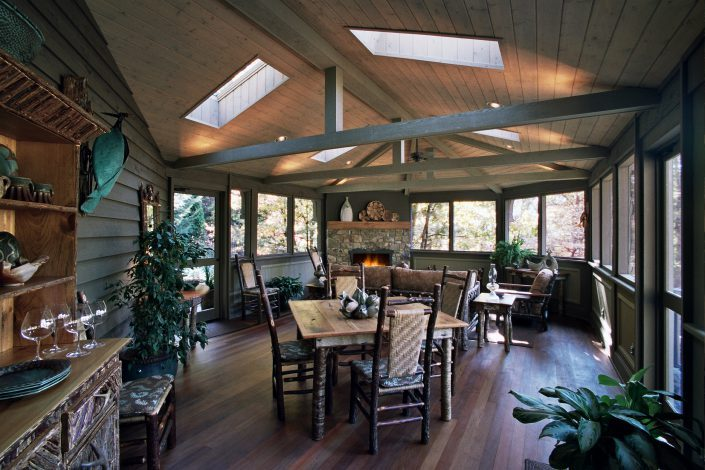screen porch - seasonal room, asheville, scott w bartholomew architecture