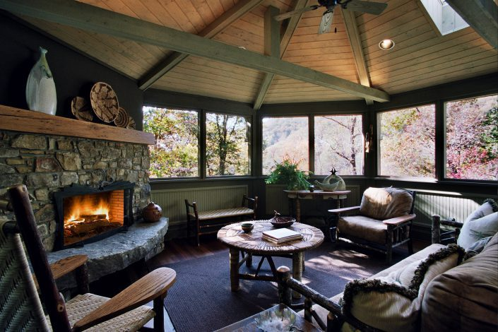 sitting porch design, asheville, scott w bartholomew architecture