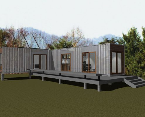 shipping container home, scott w bartholomew architect