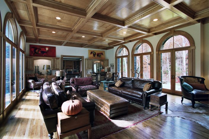 Itallainate - great room design, asheville, Scott W Bartholomew Architect
