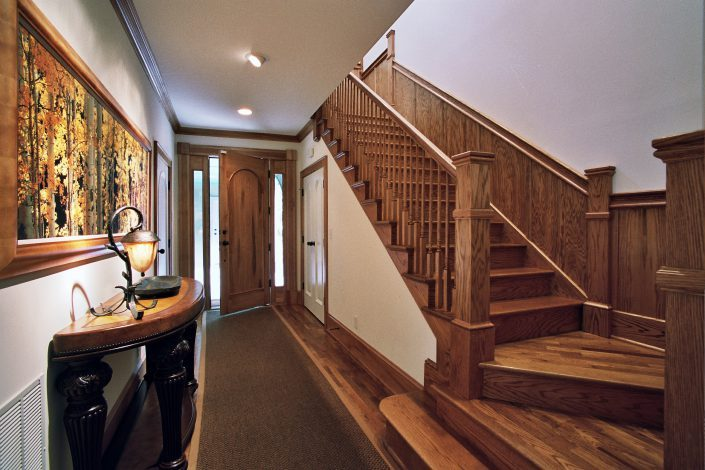 interior Italianate - staircase design, asheville, Scott W Bartholomew Architect