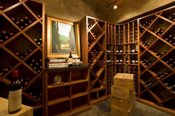 wine cellar, Scott W Bartholomew Architect