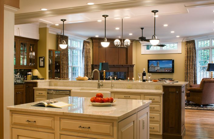 Great Room and Kitchen - custom design