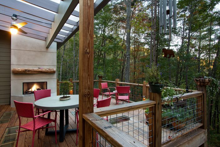 sun deck, asheville, Scott W Bartholomew Architect