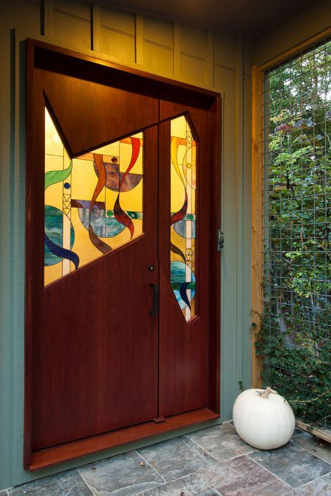 custom entry door - contemporary, asheville, Scott W Bartholomew Architect