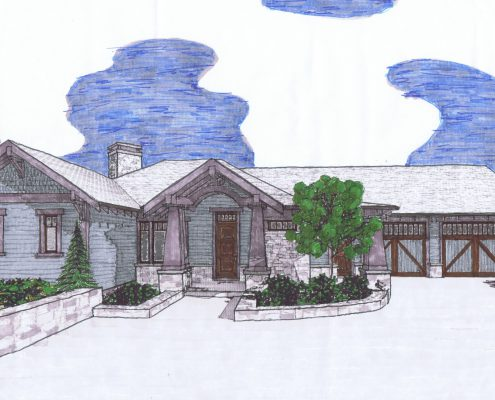 front home design - drawing