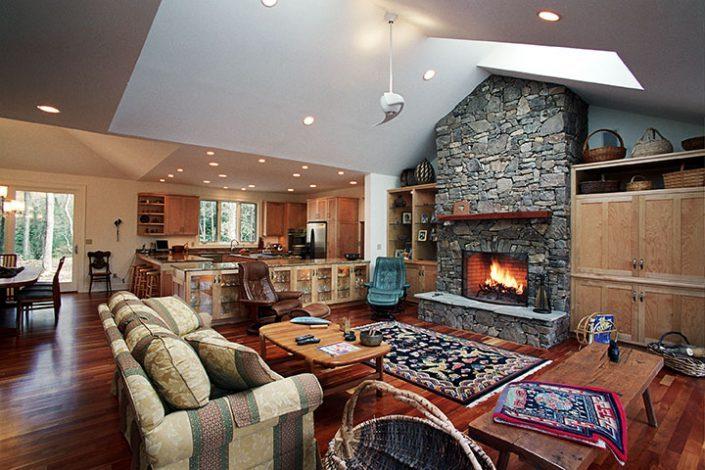 living room, asheville, Scott W Bartholomew Architect