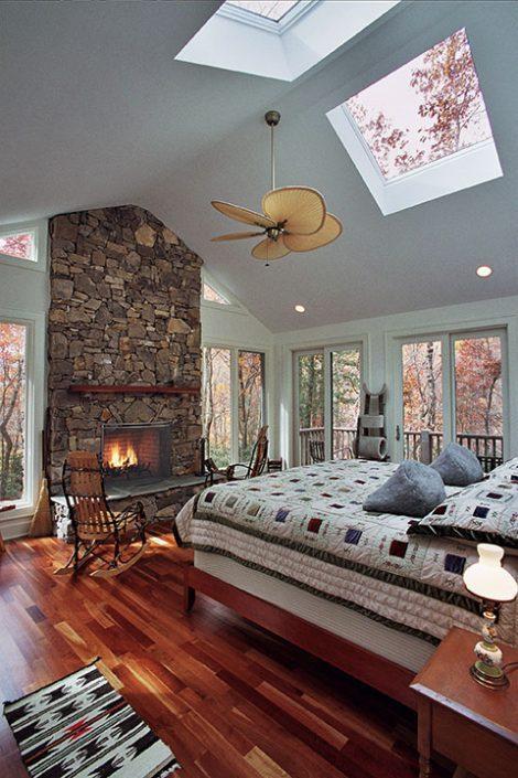 master bedroom, asheville, Scott W Bartholomew Architect