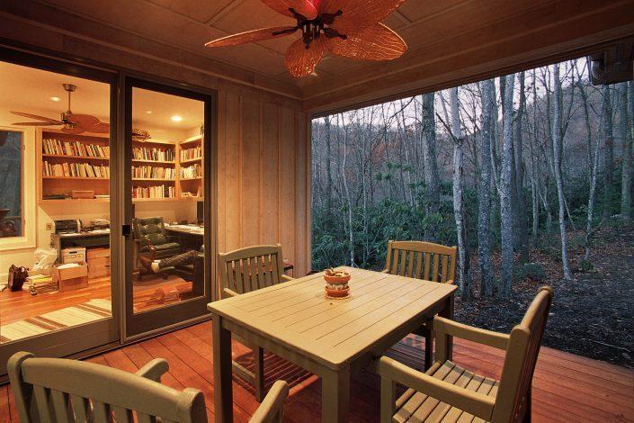 dining porch, asheville, Scott W Bartholomew Architect