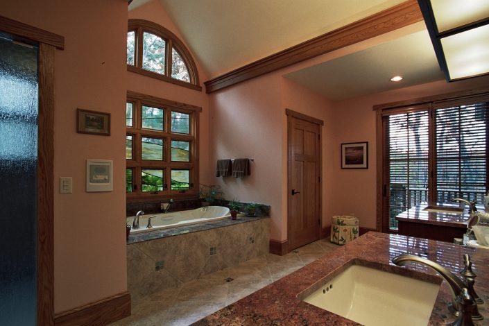 Arts and Crafts - bathroom design, asheville, scott w bartholomew architecture