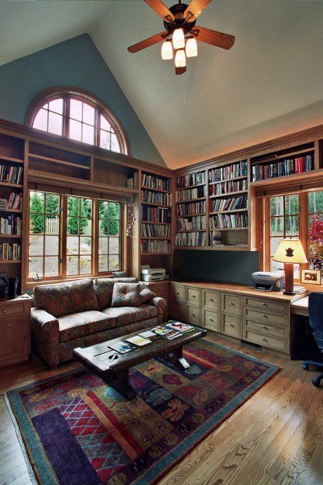 home office - Arts & Crafts, asheville, scott w bartholomew architecture