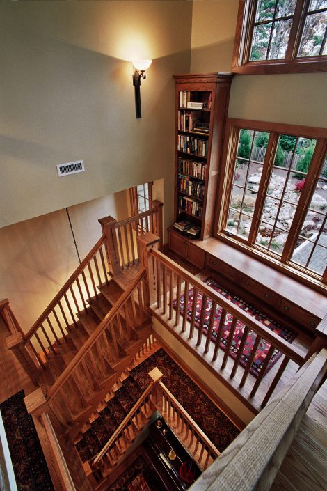 Arts and Craft - staircase, asheville, scott w bartholomew architecture