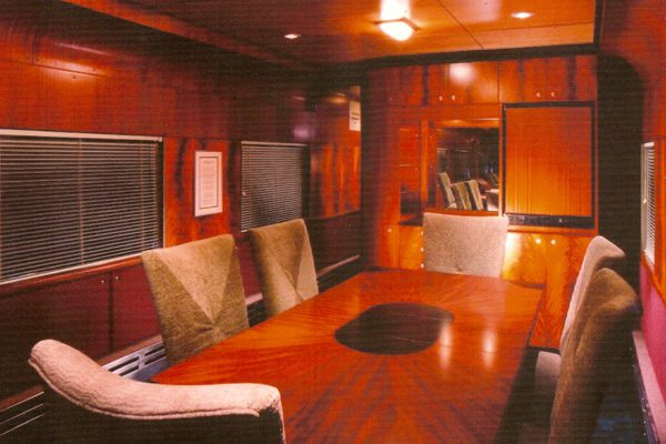 rail-car-interior design, Scott W Bartholomew Architect