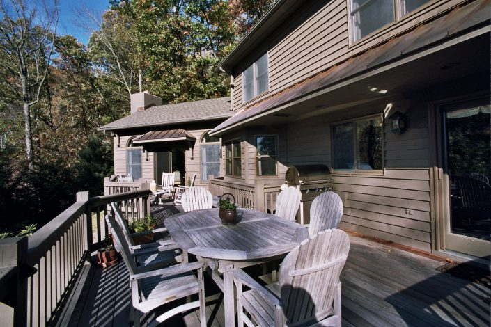 deck addtion, asheville, scott w bartholomew architecture