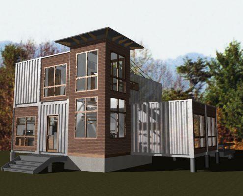shipping container home, scott w bartholomew architect