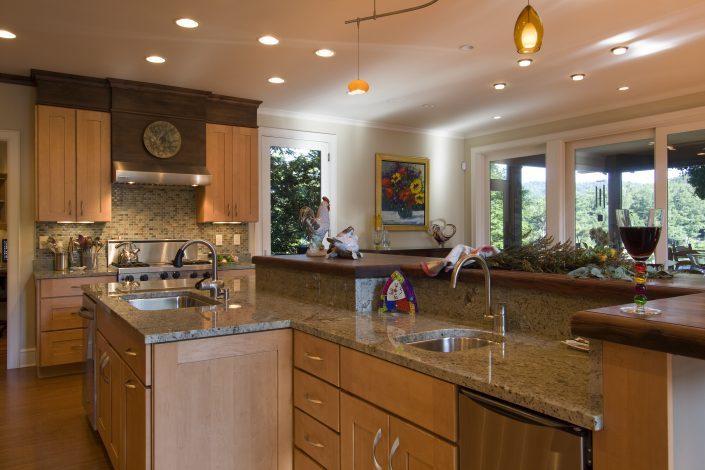 lakehouse kitchen, Scott W Bartholomew Architect