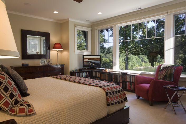 lakehouse bedroom, Scott W Bartholomew Architect