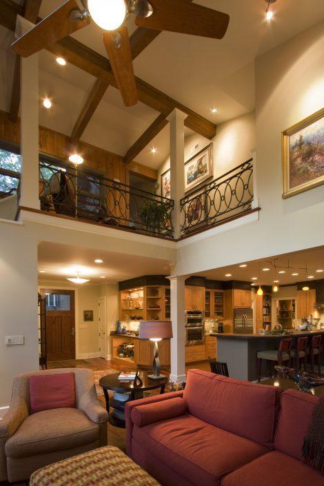 Living and kitchen, Scott W Bartholomew Architect