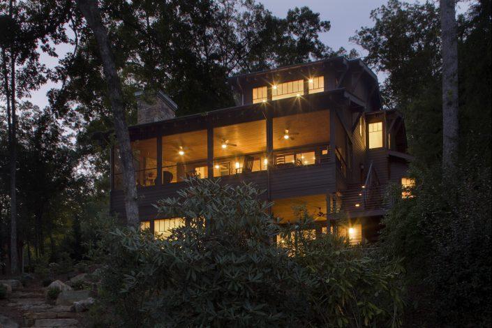 lakehouse porch, lake Summit, Scott W Bartholomew Architect