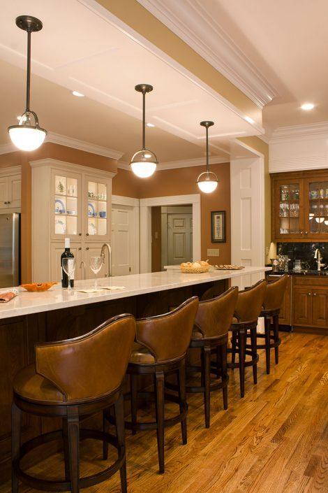 Kitchen bar, asheville, scott w bartholomew architecture