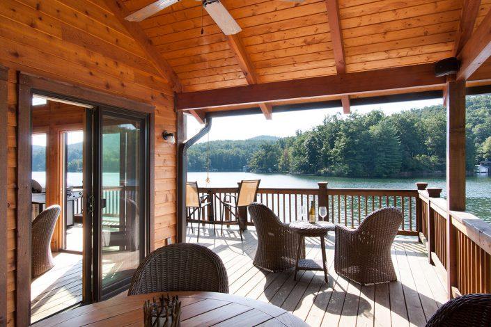 boathouse porch, scott w bartholomew architecture