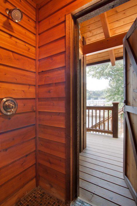 indoor/outdoor shower, asheville, Scott W Bartholomew Architect
