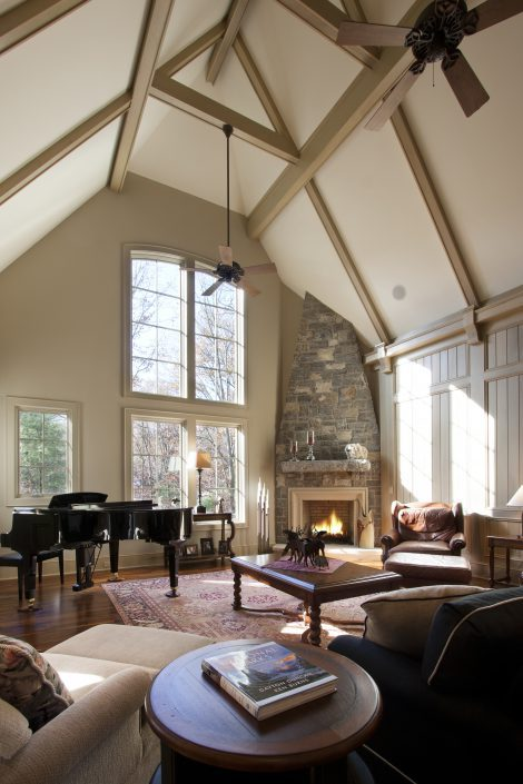 Living Room, asheville, Scott W Bartholomew Architect