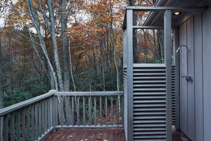 outdoor shower, asheville, Scott W Bartholomew Architect