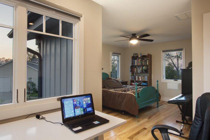 Bedroom, Asheville, Scott W Bartholomew Architect