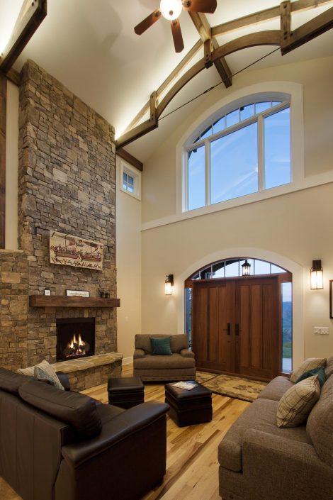 Stone Chimney, Asheville, Scott W Bartholomew Architect